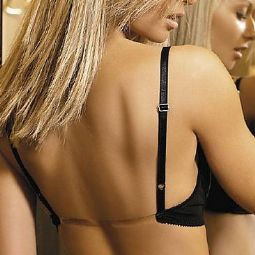 Clear Back bra in White, ideal for backless dresses